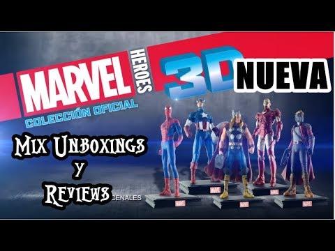 NUEVA COLECCION - Marvel Heroes 3D - TOMO 1 - Spiderman - Salvat - Unboxing
