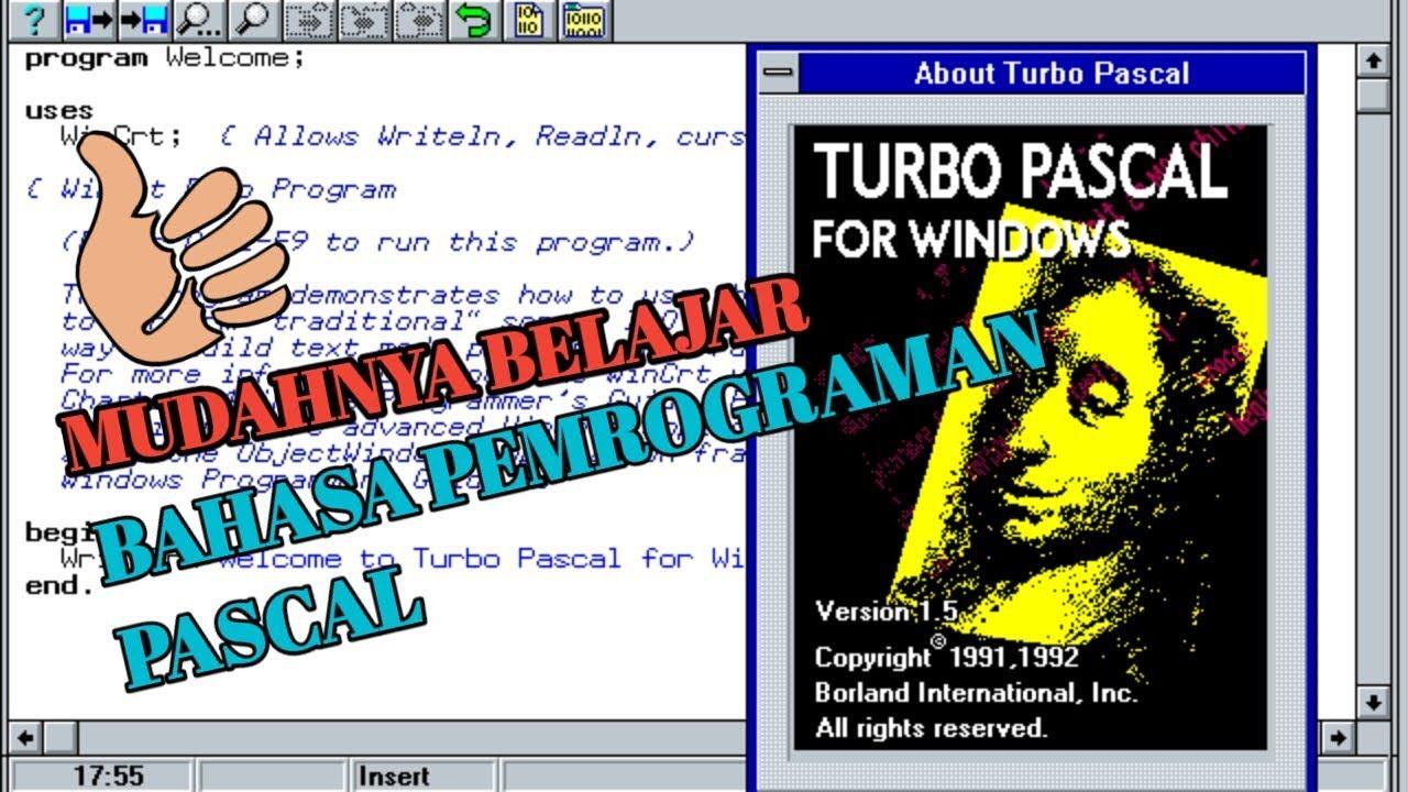 TURBO PASCAL - Belajar Turbo paskal mudah dari dasar - TAHAP 1 ...