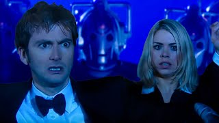Surrounded by the Cybermen - Doctor Who - Rise of the Cybermen - BBC