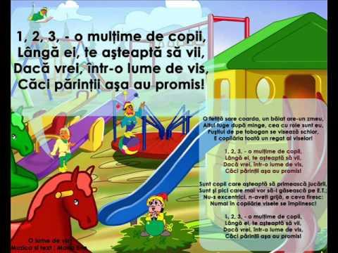 O LUME DE VIS – Cantece pentru copii in limba romana