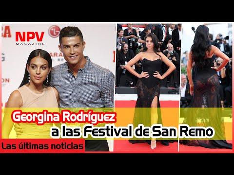 Georgina Rodríguez su debut en la Televisión Italiana a las Festival de San Remo