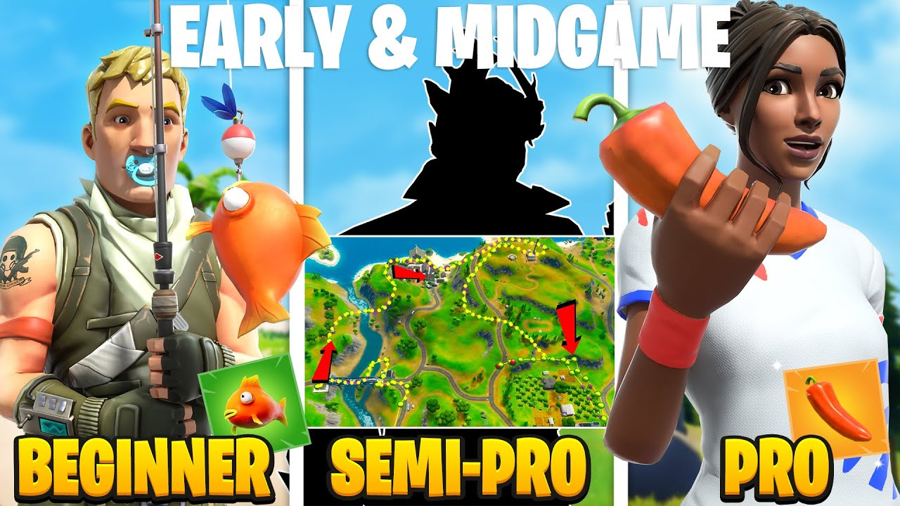3 Levels of Early & Midgame : Beginner Vs Semi-Pro Vs Pro (FNCS/Dreamhack Rotation Tips and Tricks)