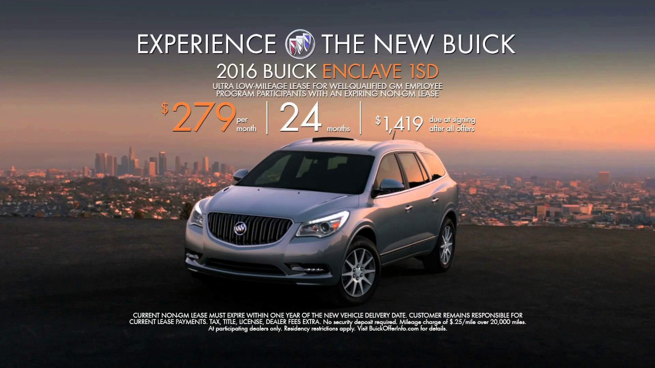 Buick Enclave Lease >> Buick Enclave 2017 Commercial - YouTube