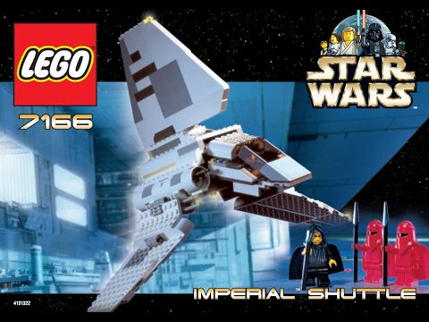 Lego 7166 Star Wars Imperial Shuttle Instruction Manual Youtube