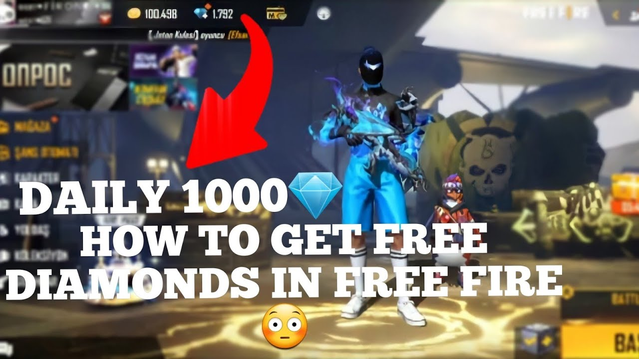 Daily 1000 💎 Diamond Trick.Free Diamond in Freefire 2021. How to get Free Diamonds in Free Fire