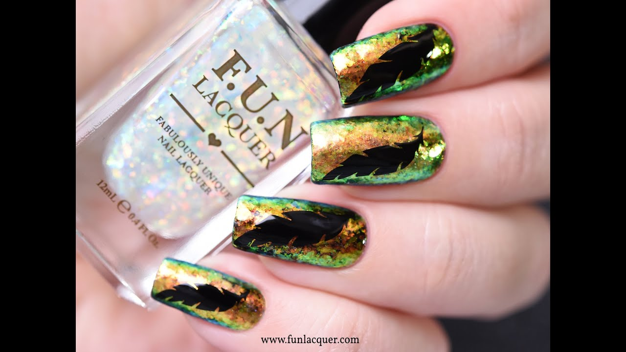 Color Shifting Flakes Nail Art | F.U.N Lacquer - YouTube