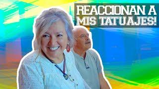 MIS PAPÁS REACCIONAN A MIS TATUAJES!! | JUCA