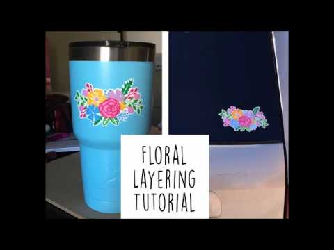 Flower Layering Tutorial For Silhouette