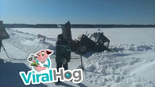 Tractor Torn in Two || ViralHog thumbnail