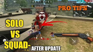 FREE FIRE | AFTER UPDATE RANK PRO TIPS AND TRICKS  KILL FREE FIRE | KILL FULL SQUAD WITH MP40