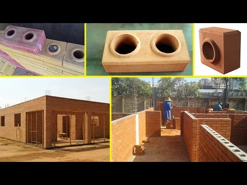 how to built house by interlocking lego brick and block, tijolo ecological with brick machine