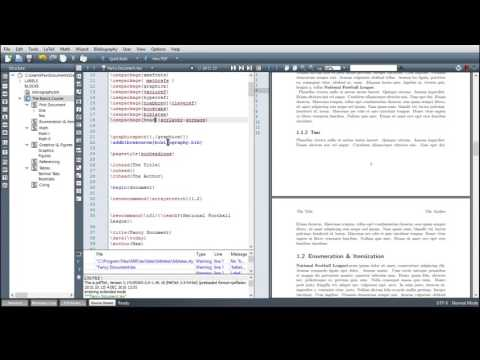 Document Classes, Headlines and Basic Text Formatting in Latex - Latex Beginners' Course #11