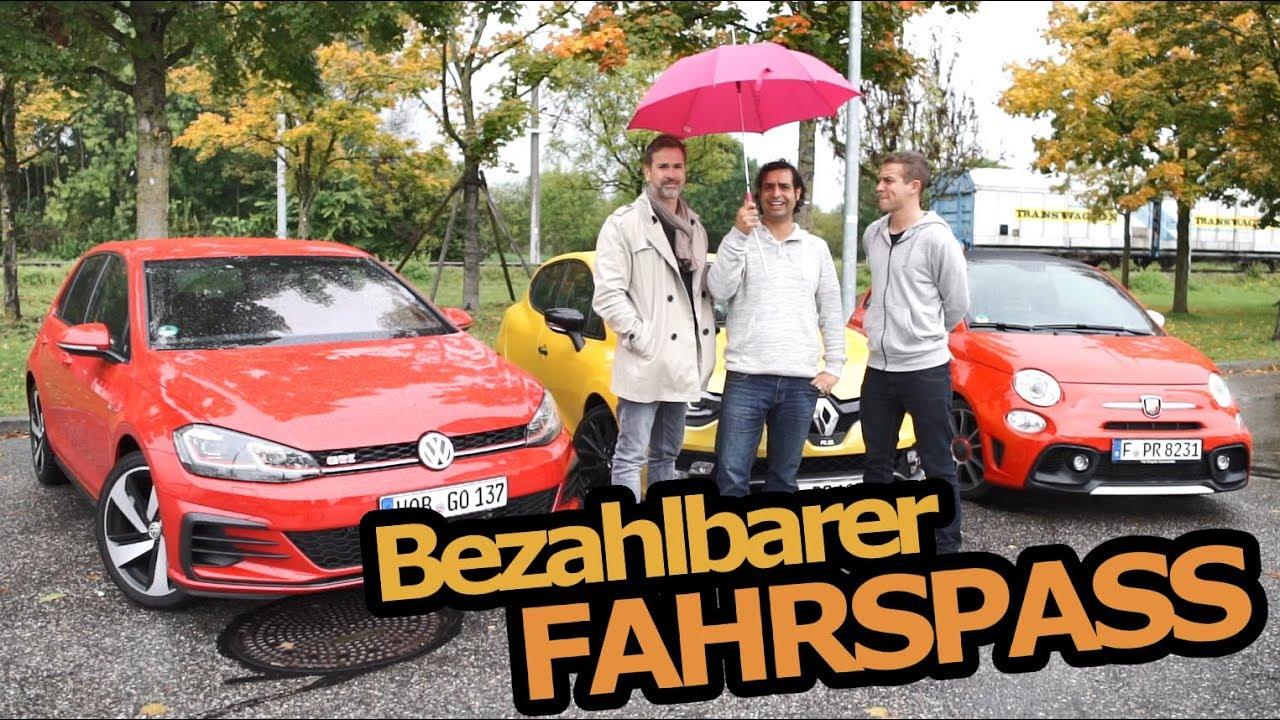 Vw Golf Gti Performance Vs Renault Clio Rs Trophy Vs Fiat Abarth 595 C Turismo Fahr Doch