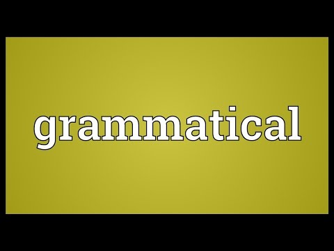 Header of grammatical meaning