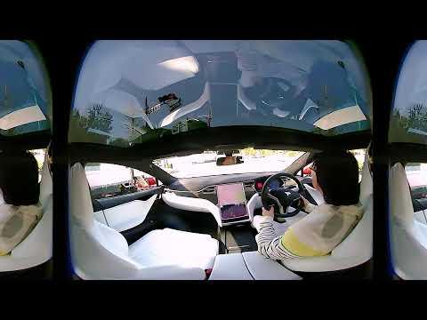 Vr180 Test Footage: Driving Tesla Model S Lucidcam