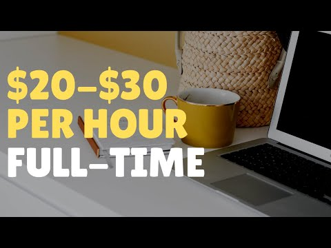 $20-$30/Hour Work-From-Home Jobs Hiring Now For 2020