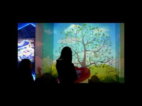 Digital exhibition hall interactive wall  projection
