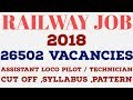 RRB ALP RECRUITMENT 2018 ( RAILWAY LOCO PILOT ) – 26502 Vacancy [ All Doubts Answered ]