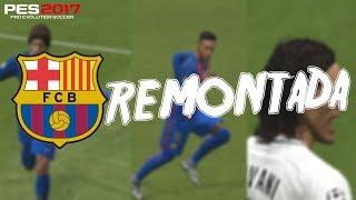 pes 2017 l the historic remontada fcb vs psg recreation l اهداف الريمونتادا التاريخية في بيس 2017