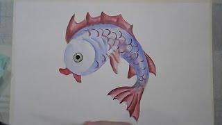 Как нарисовать рыбу(Узнайте, как новичку научиться рисовать карандашом и красками: http://lessons-free.ru/paintdvd Новый урок по рисованию..., 2016-01-04T16:00:03.000Z)