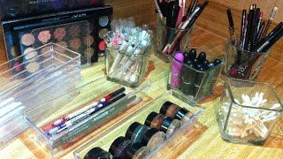 ░Clear Makeup Storage Ideas From Dollar Tree░