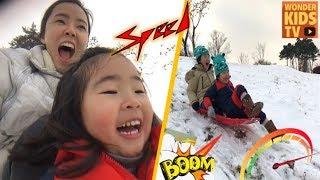 동계올림픽 l 올림픽 꿈나무 l 눈썰매 타기. 눈썰매 사고영상! 눈썰매 경주! 다이나믹 눈썰매 타기 olympic snow sleigh racing
