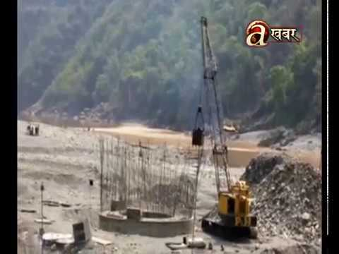 Construction on halt at one of Nepal's example of swinging bridge