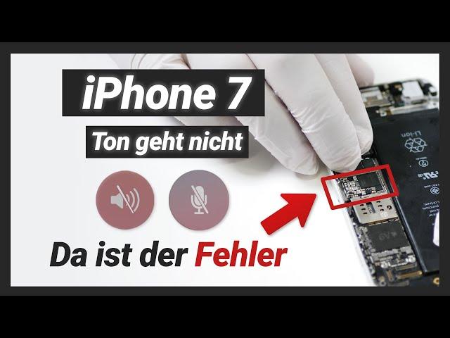 iPhone 7 Mikrofon / Lautsprecher & Ton geht nicht  - Audio IC Reparatur | Einfach erklärt!