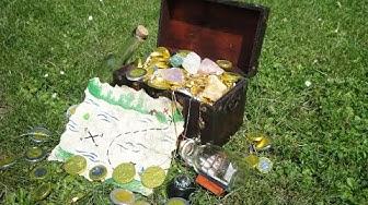 Kreative Ideen für eine Schatzsuche mit Kindern - magic sand – Magnete – Rätsel und Flaschenpost