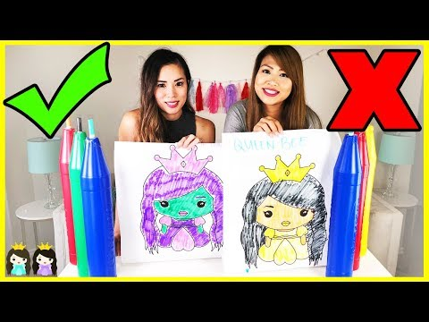 Giant 3 Marker Challenge with Princess ToysReview