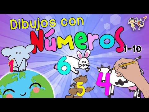 Dibujos Con Números Dibujos De Animales Fáciles Youtube