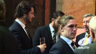 The Qantas Wallabies attended the launch of the Australian Rugby Fo...