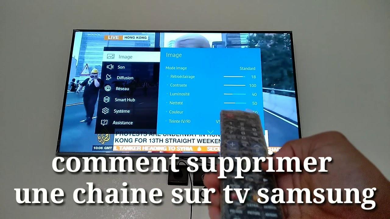 comment supprimer une chaine sur tv samsung