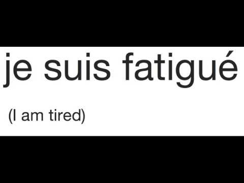 How do you say im very tired in french