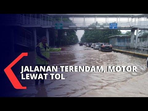 Dilema Pengendara Motor di Banjir Jakarta, Antara Mogok atau Masuk Tol