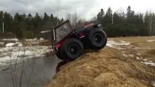 "New Canadian Amphibious ATV ""PATROL"" testing on water!"