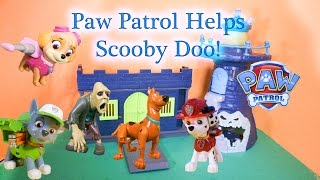 PAW PATROL NickeloDeon Paw Patrol Helps Scooby Doo Catch a Bad Guy A Paw Patrol Video
