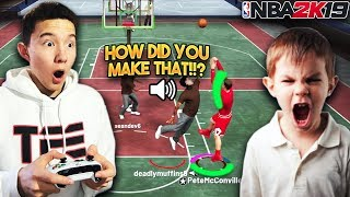 9 YEAR OLD SQUEAKER REACTS TO THE BEST POST SCORER IN NBA 2K19!! He Went Crazy!