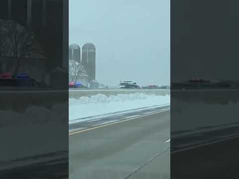 100+ vehicle pileup on I-41 in Winnebago County, WI 2/24/19