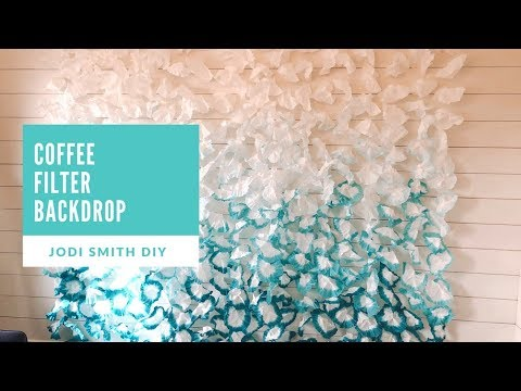 Best DIY Party Backdrop- Ombre' Coffee Filters
