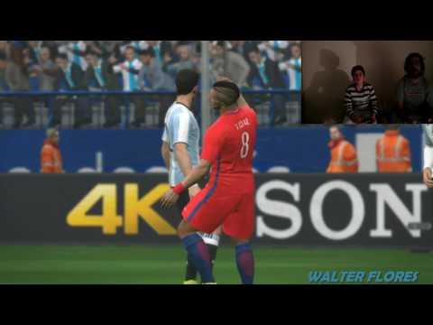PES 17' - ARGENTINA VS CHILE (VIDEO REACCIÓN)