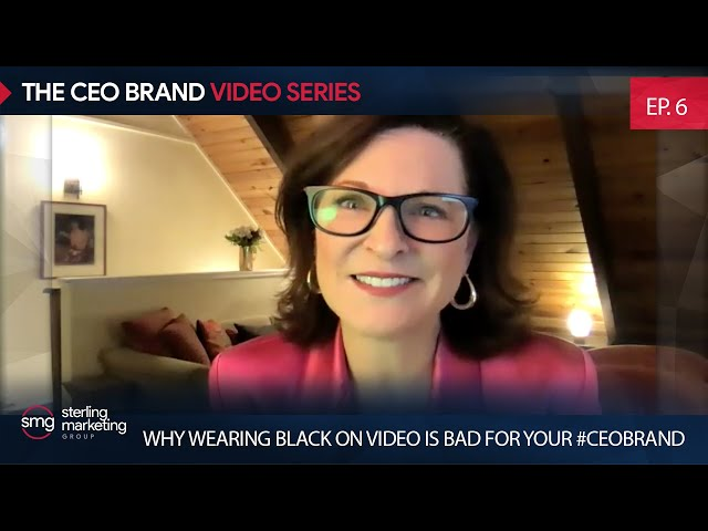 Why Wearing Black On Video Is Bad For Your #CEOBrand