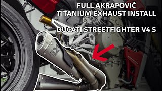 2020 Ducati Streetfighter V4 S - Akrapovic Full System Install + Exhaust Sound