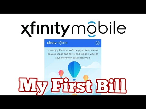 My First Bill From Xfinity Mobile (Comcast) 😨😨😨 - YouTube