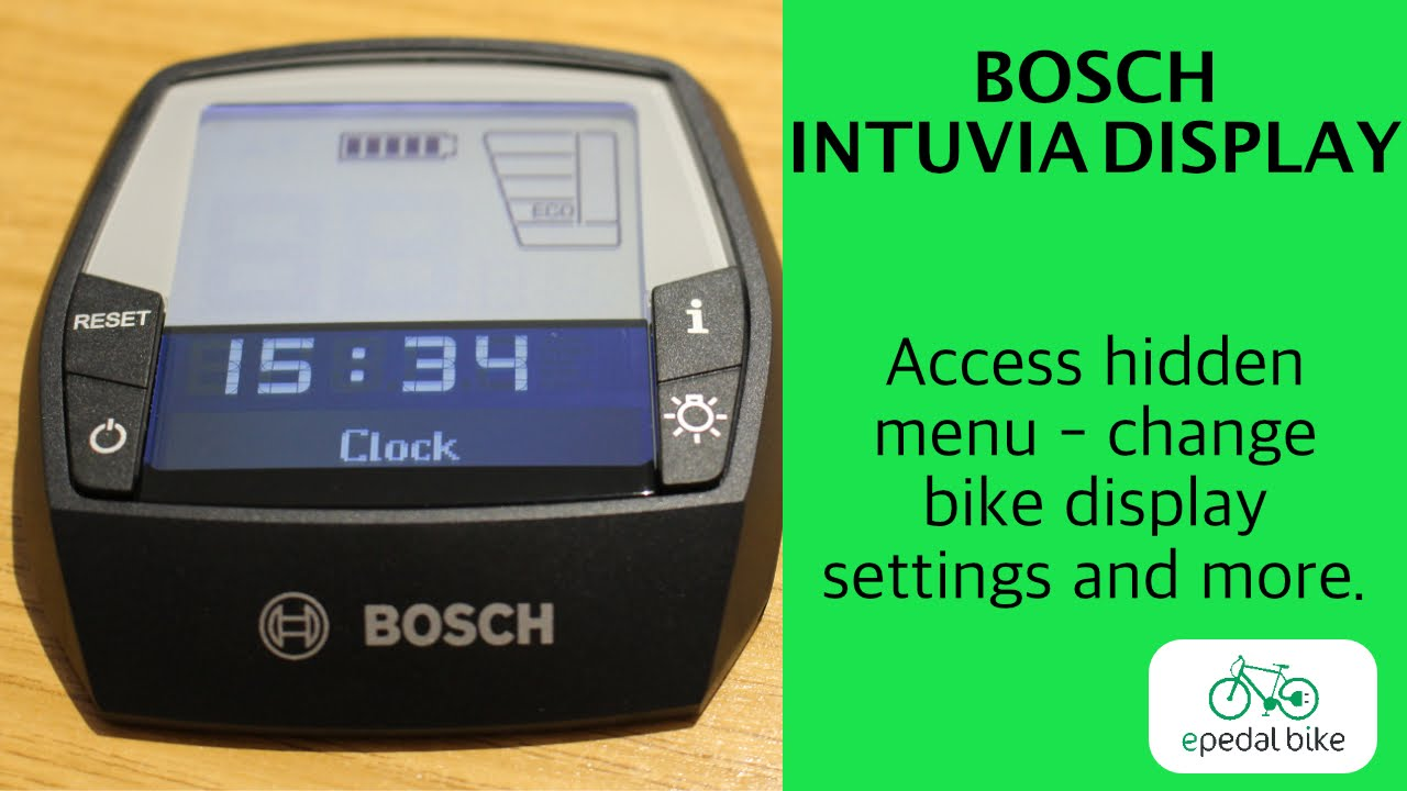 b8a0b14bd36 Access and change settings menu - Intuvia Bosch display. - YouTube