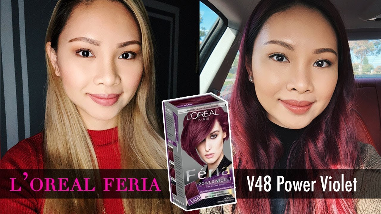 Loreal Feria V48 Violet Hair Color Tutorial Full Demo