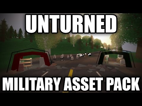 Unturned Modday: Military Asset pack! (Military Jet, Tents, Sandbags)