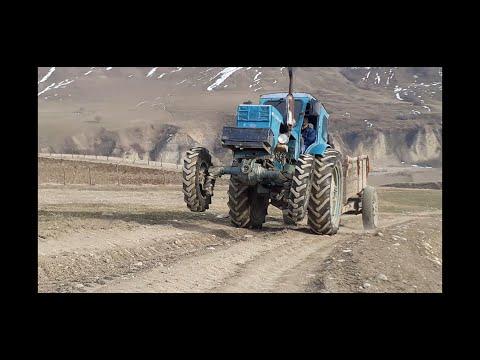 Бездорожье!Трактор Т-40 с прицепом!Вывоз камней