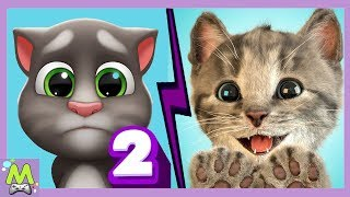 Мой Говорящий Том 2 vs Мой Маленький Котенок.Какой Котик Самый Милый и Прикольный.Кошачий Челлендж
