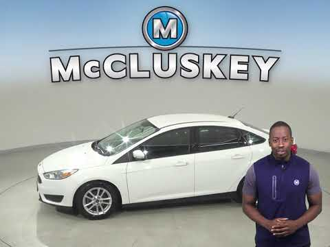 R12897NA Used 2016 Ford Focus SE FWD 4D Sedan White Test Drive, Review, For Sale -